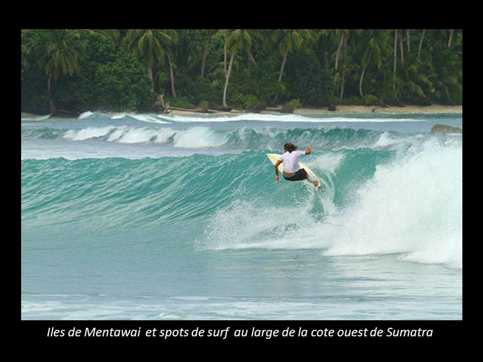 Iles de Mentawai et spots de surf au large de la cote ouest de Sumatra
