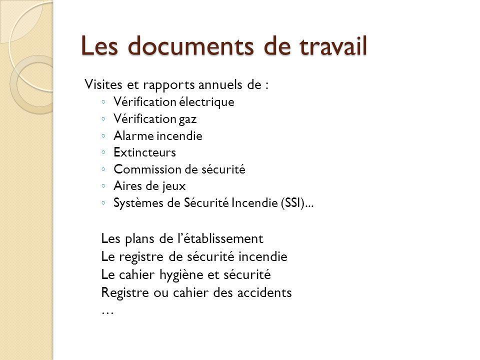 Les documents de travail