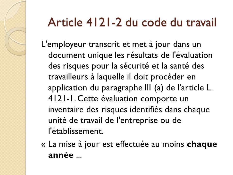 Article 4121-2 du code du travail