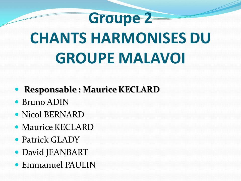 Groupe 2 CHANTS HARMONISES DU GROUPE MALAVOI