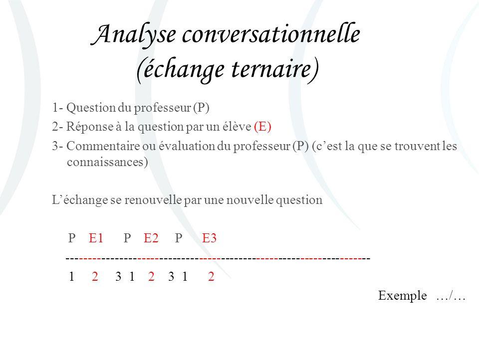 Analyse conversationnelle (échange ternaire)