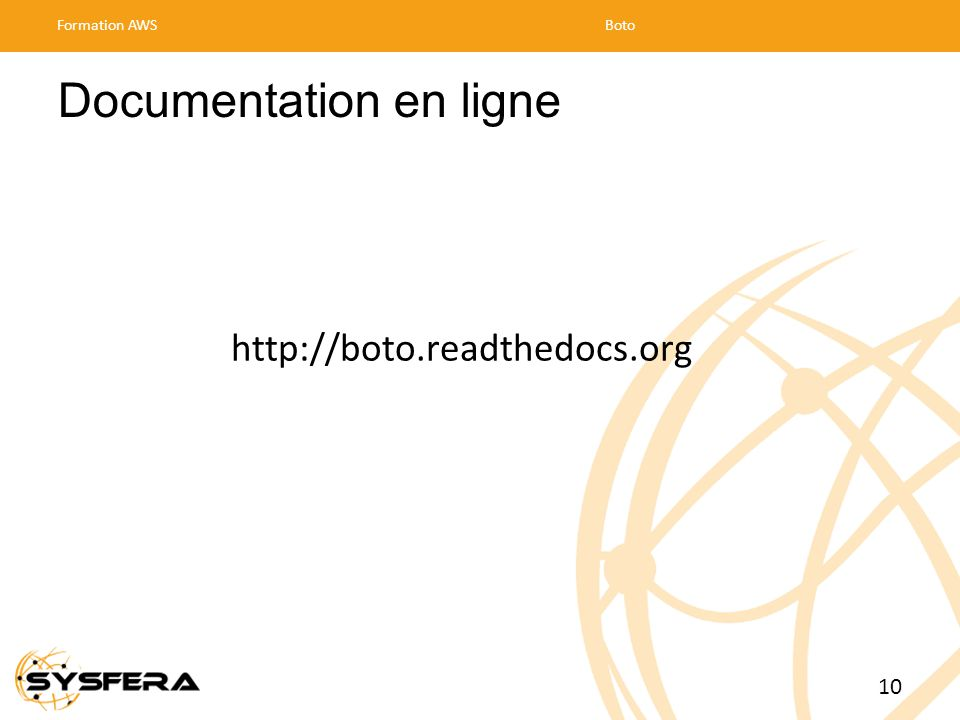 Documentation en ligne