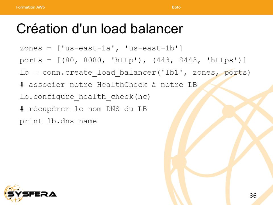 Création d un load balancer