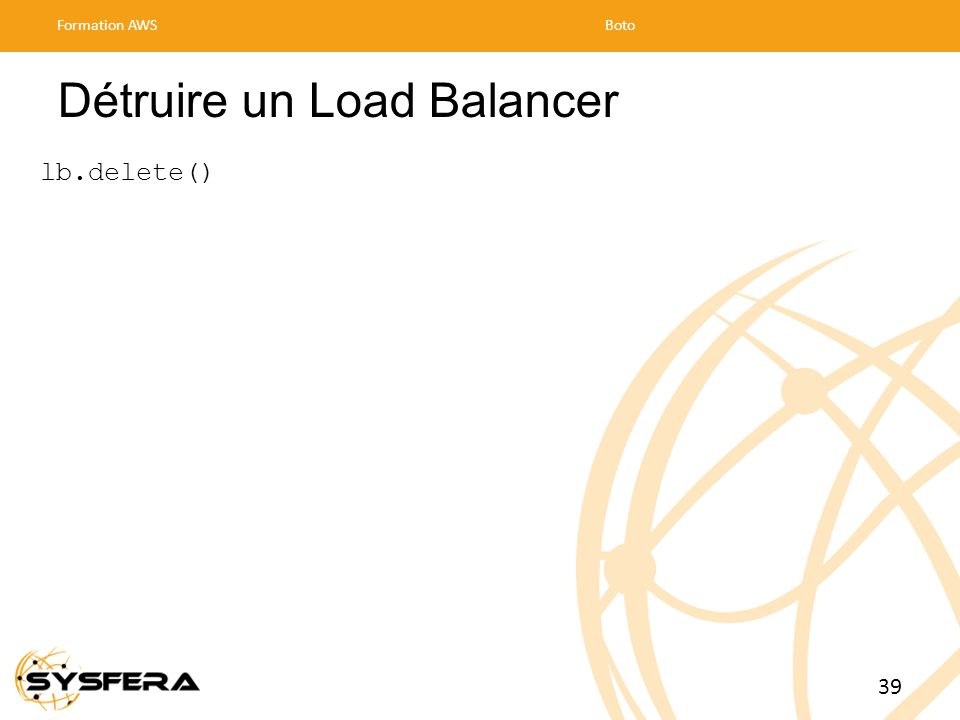 Détruire un Load Balancer
