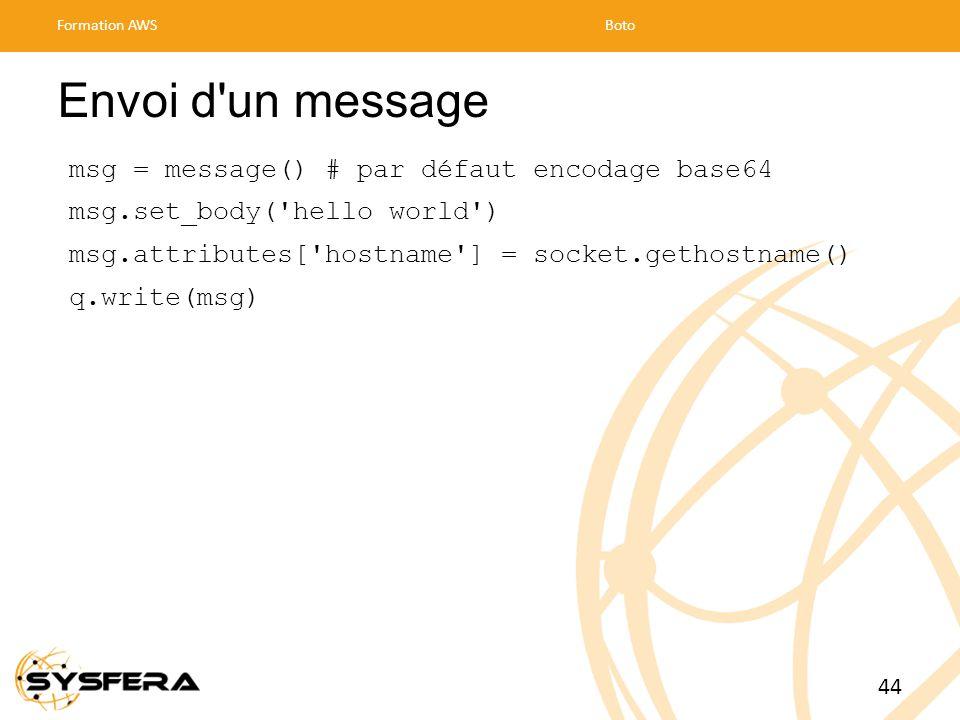 Envoi d un message msg = message() # par défaut encodage base64