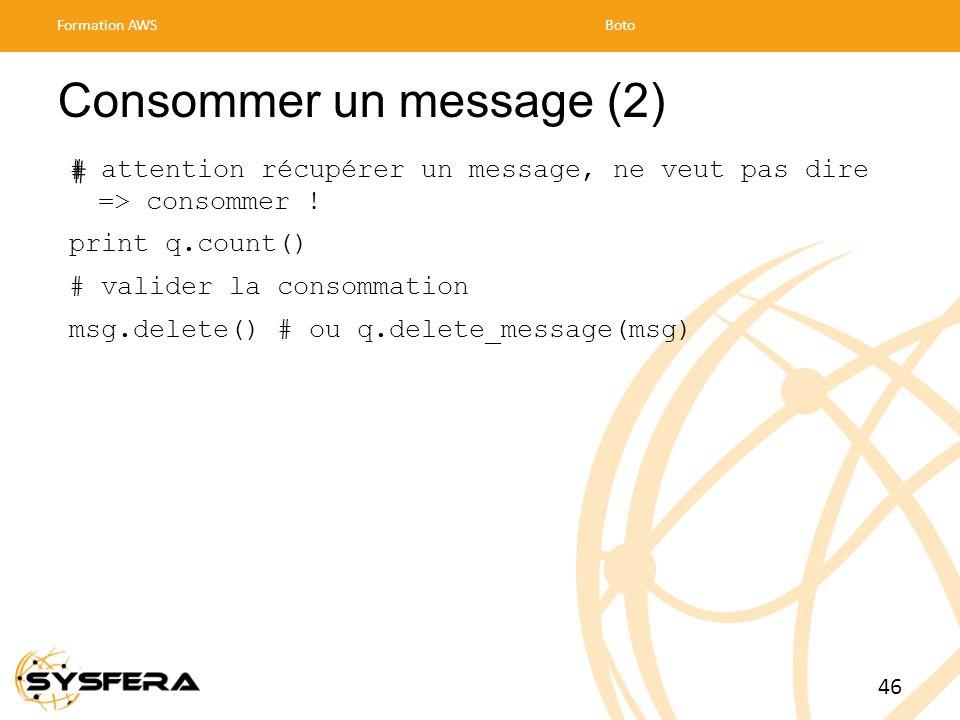 Consommer un message (2)