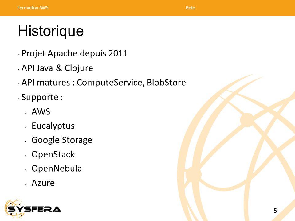 Historique Projet Apache depuis 2011 API Java & Clojure