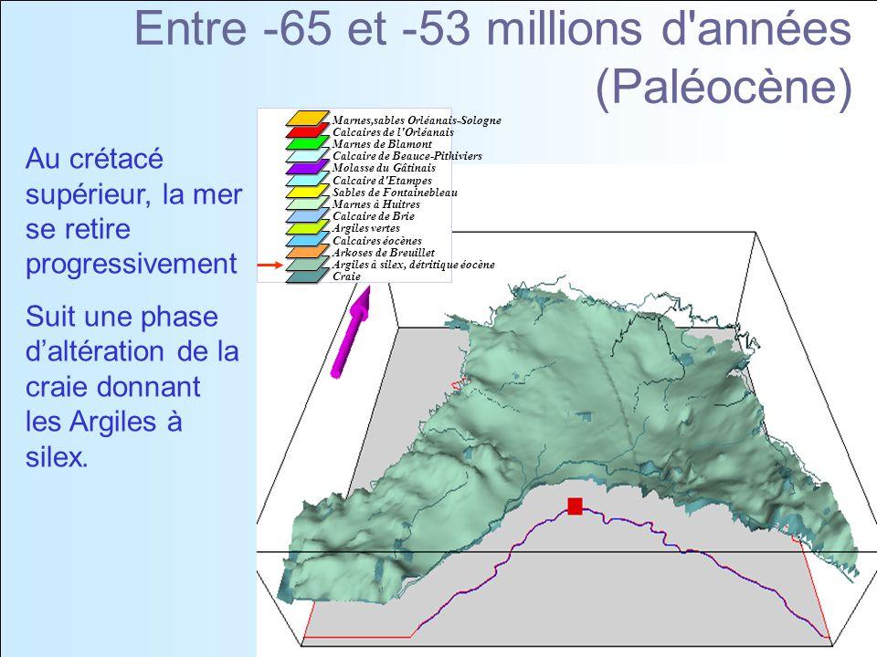 Entre -65 et -53 millions d années (Paléocène)