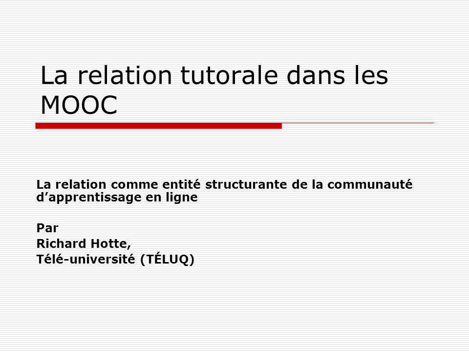 La relation tutorale dans les MOOC