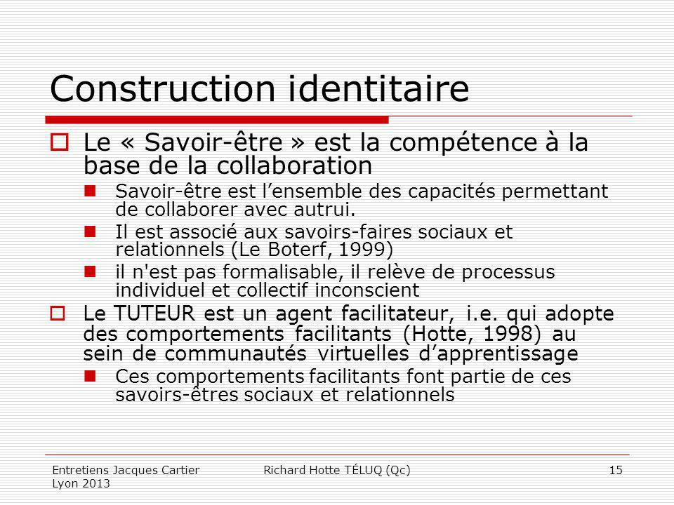 Construction identitaire