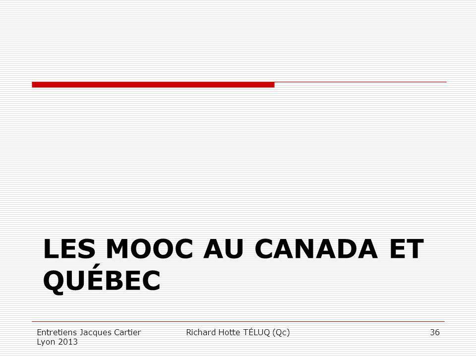 LES MOOC AU CANADA ET QUÉBEC