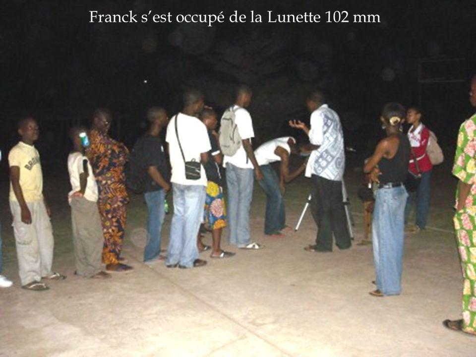 Franck s'est occupé de la Lunette 102 mm