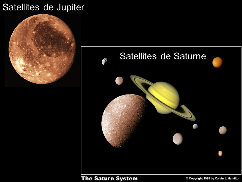 Satellites de Jupiter Satellites de Saturne
