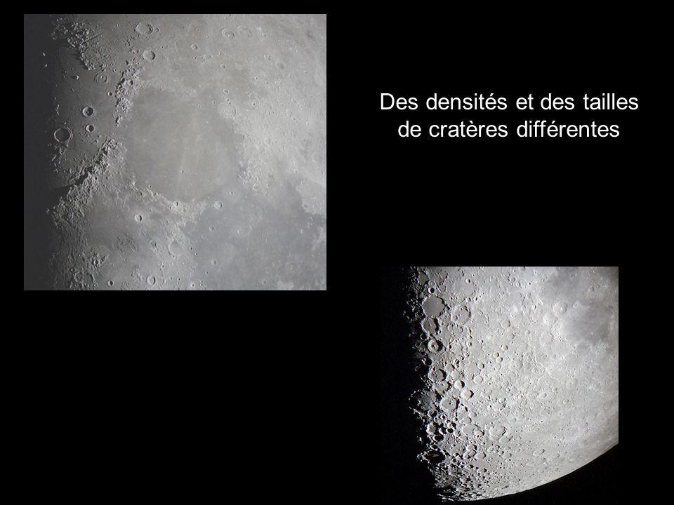 Des densités et des tailles de cratères différentes
