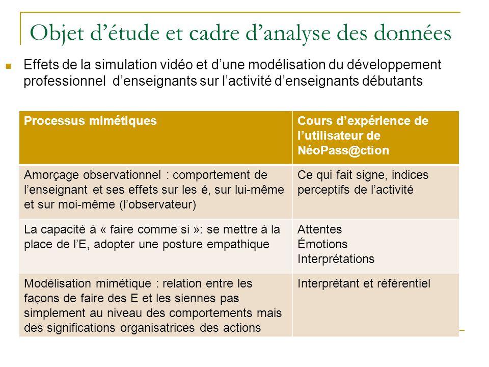 Objet d'étude et cadre d'analyse des données