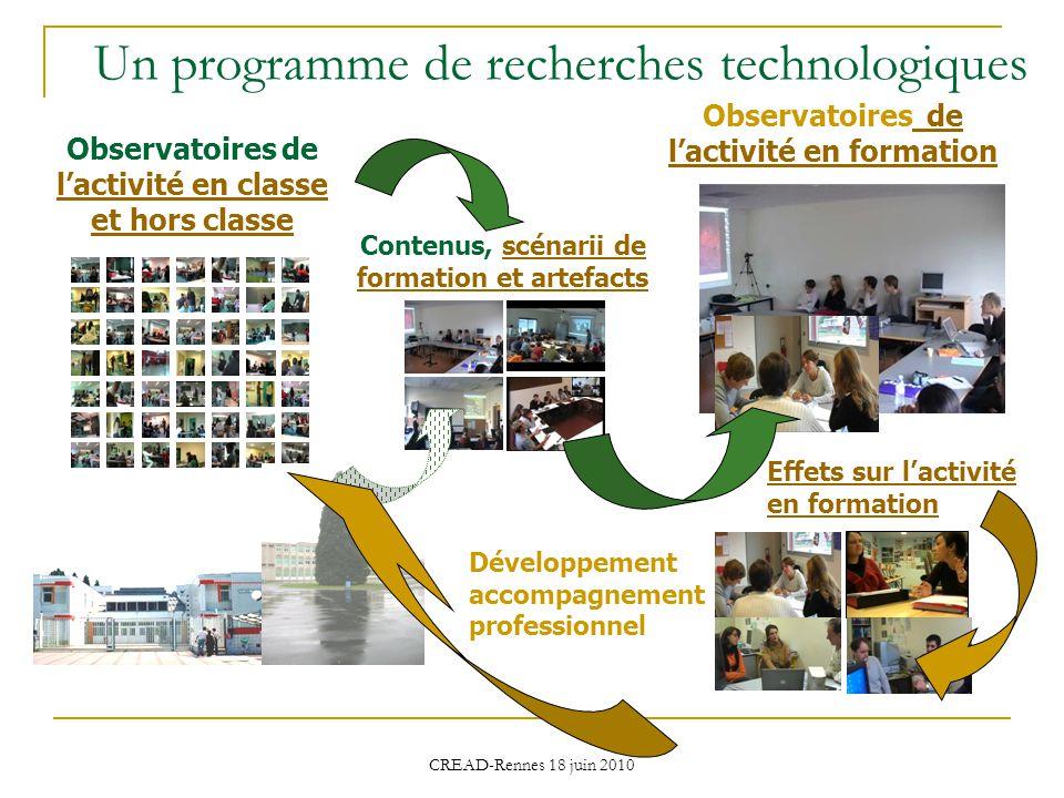 Un programme de recherches technologiques