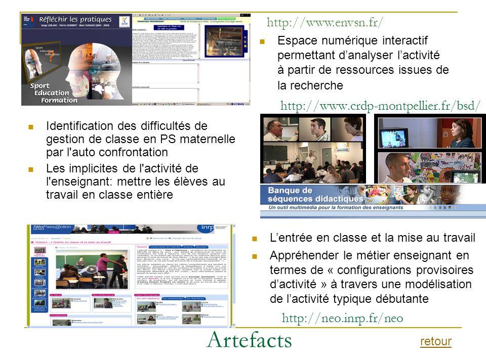 Artefacts http://www.envsn.fr/ http://www.crdp-montpellier.fr/bsd/