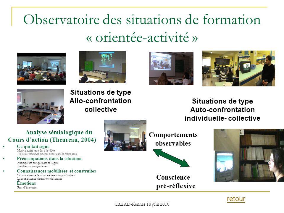 Observatoire des situations de formation « orientée-activité »