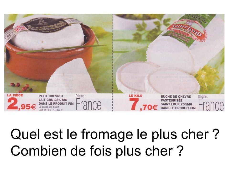 Quel est le fromage le plus cher