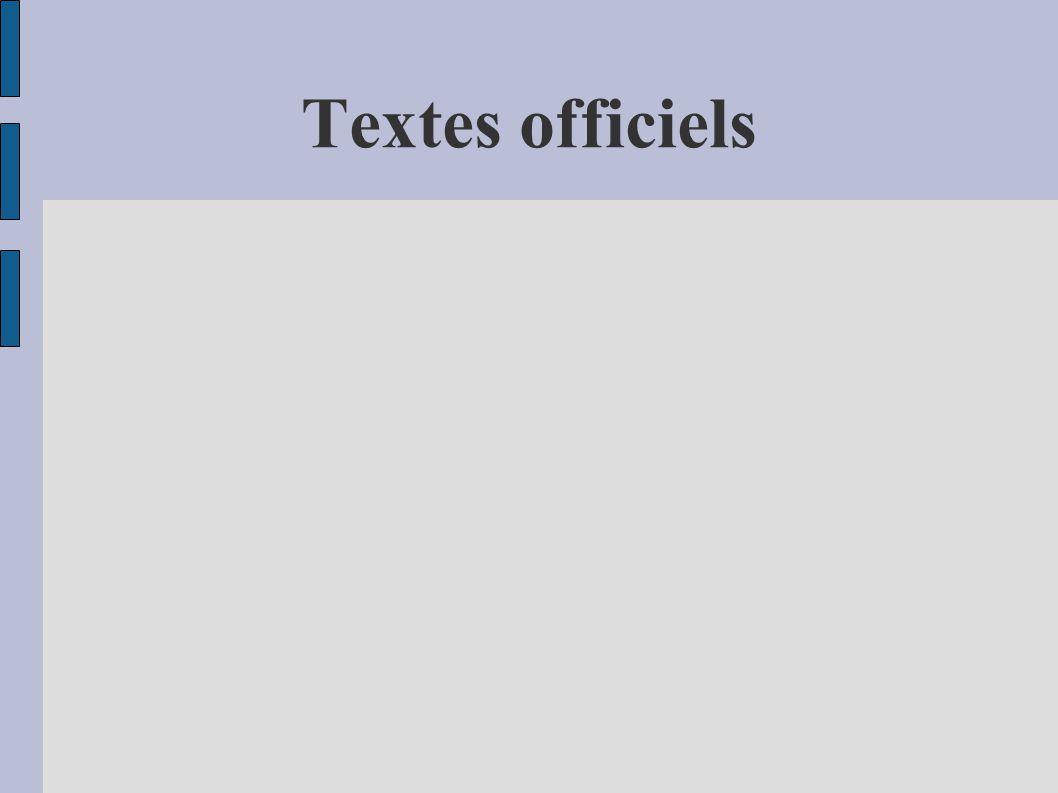 Textes officiels