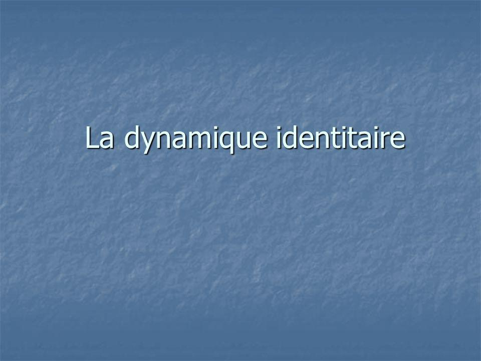 La dynamique identitaire