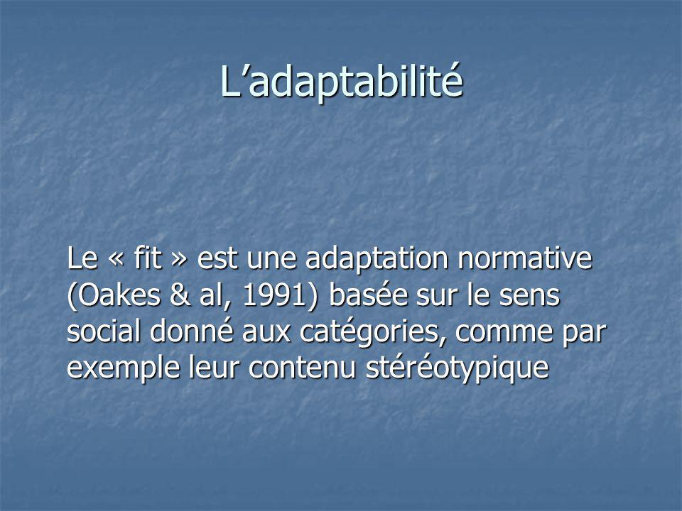L'adaptabilité