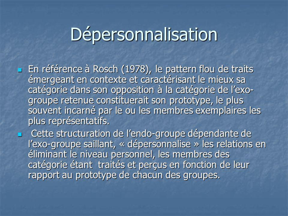 Dépersonnalisation