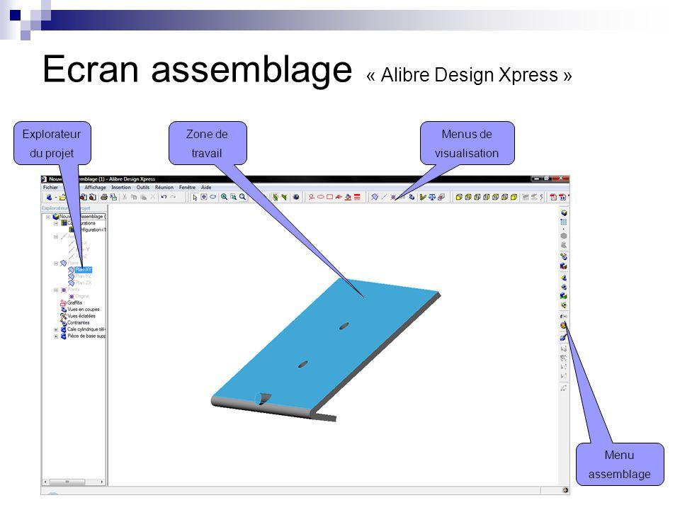 Ecran assemblage « Alibre Design Xpress »