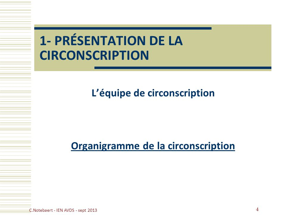 1- PRÉSENTATION DE LA CIRCONSCRIPTION