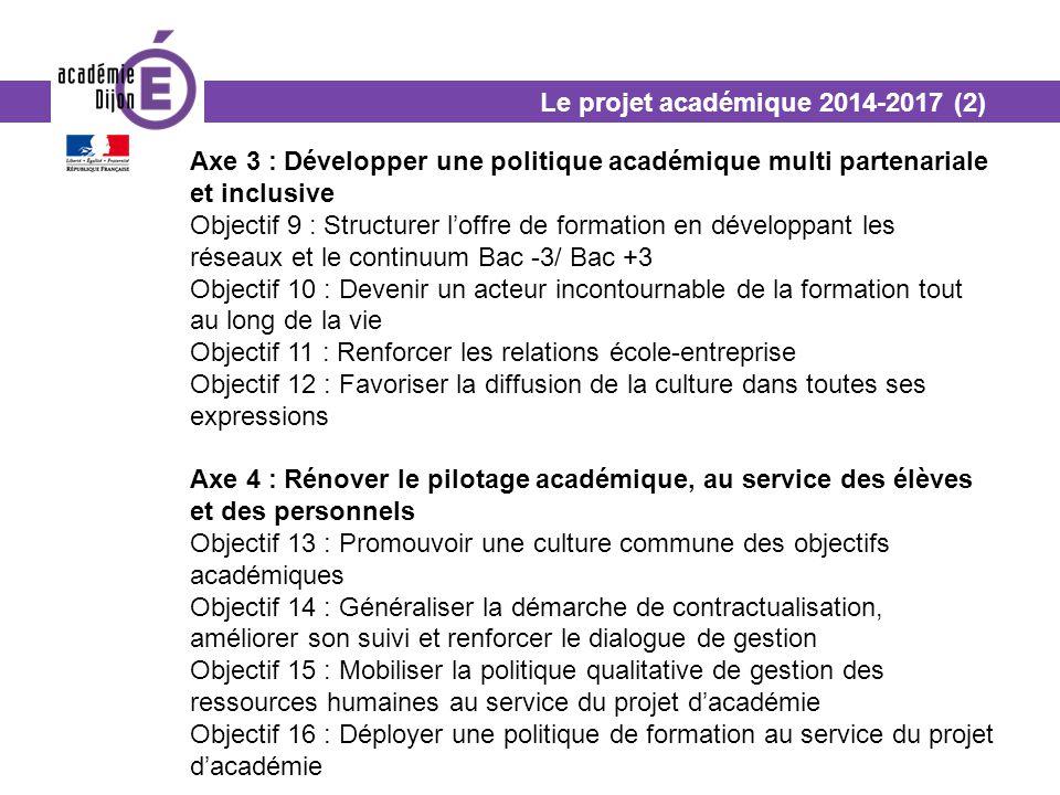 Le projet académique 2014-2017 (2)