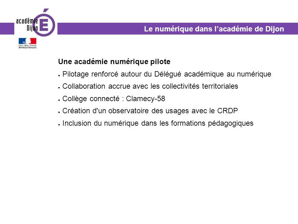 Le numérique dans l'académie de Dijon