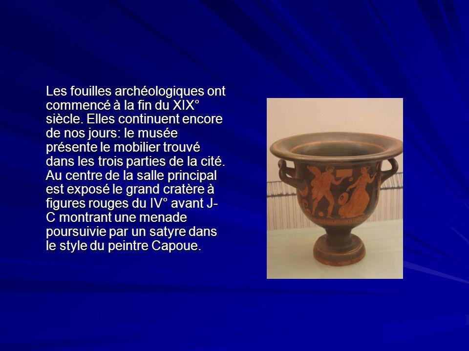 Les fouilles archéologiques ont commencé à la fin du XIX° siècle