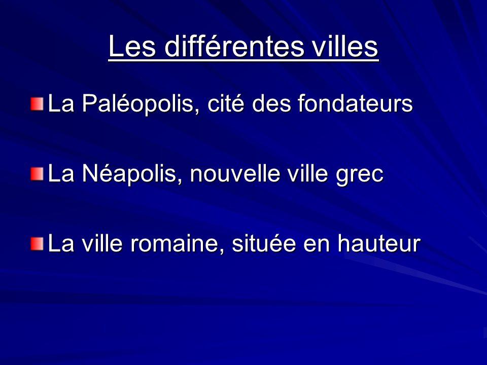 Les différentes villes