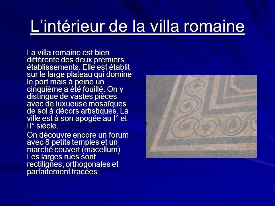 L'intérieur de la villa romaine