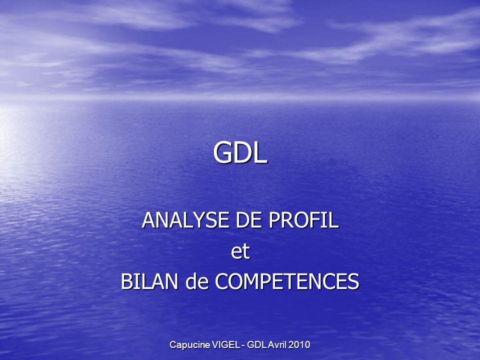 ANALYSE DE PROFIL et BILAN de COMPETENCES