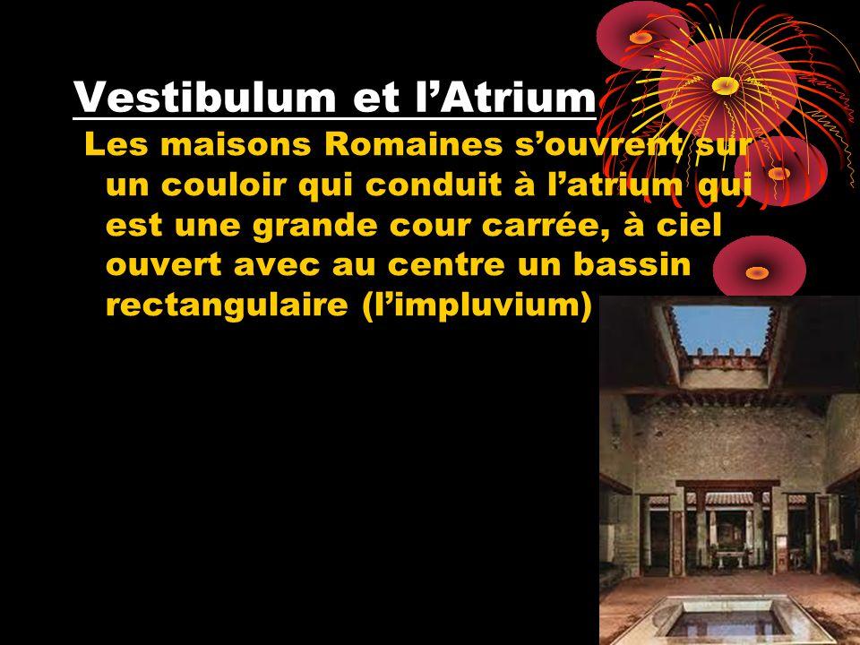 Vestibulum et l'Atrium