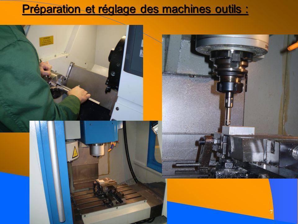Préparation et réglage des machines outils :