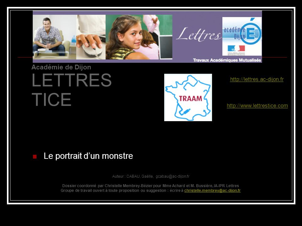Auteur : CABAU, Gaëlle, gcabau@ac-dijon.fr
