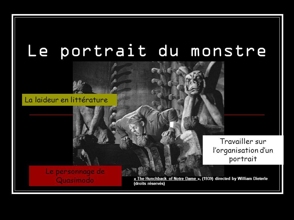 Le portrait du monstre La laideur en littérature
