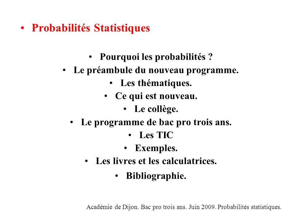 Probabilités Statistiques