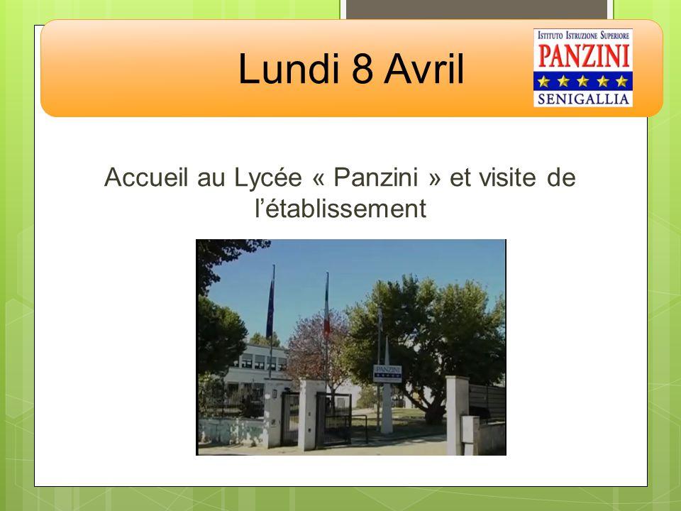 Accueil au Lycée « Panzini » et visite de l'établissement