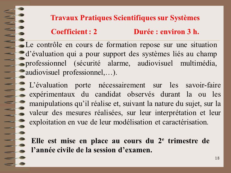 Travaux Pratiques Scientifiques sur Systèmes