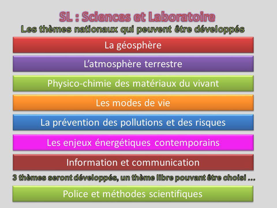 SL : Sciences et Laboratoire