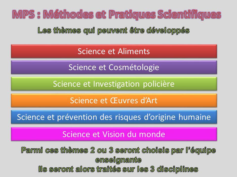 MPS : Méthodes et Pratiques Scientifiques