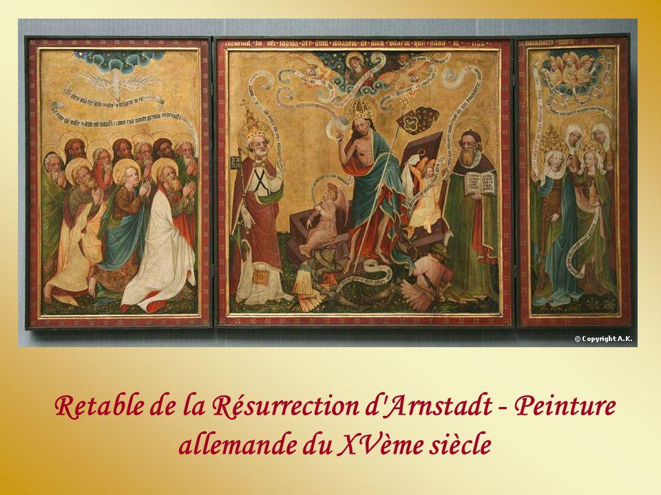 Retable de la Résurrection d Arnstadt - Peinture allemande du XVème siècle