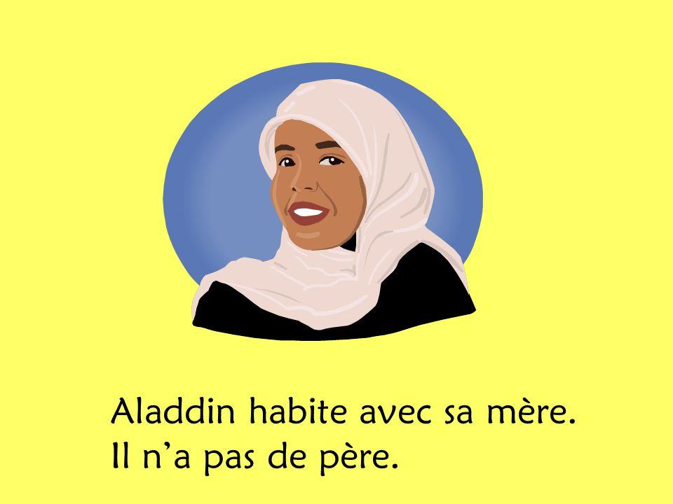 Aladdin habite avec sa mère. Il n'a pas de père.