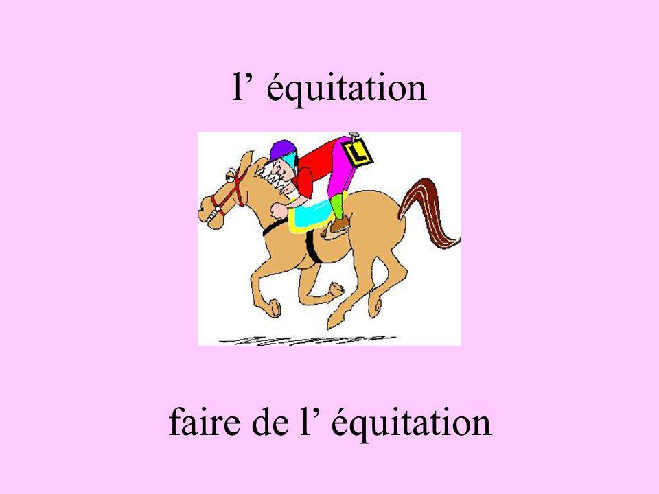 l' équitation faire de l' équitation