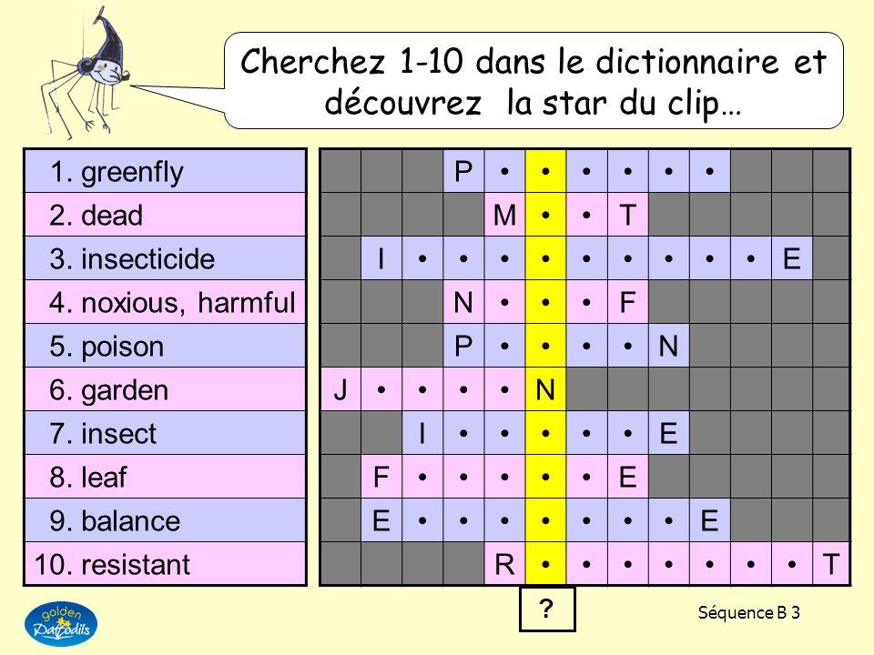 Cherchez 1-10 dans le dictionnaire et découvrez la star du clip…