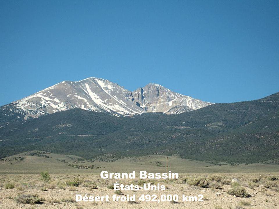 Grand Bassin États-Unis Désert froid 492,000 km2