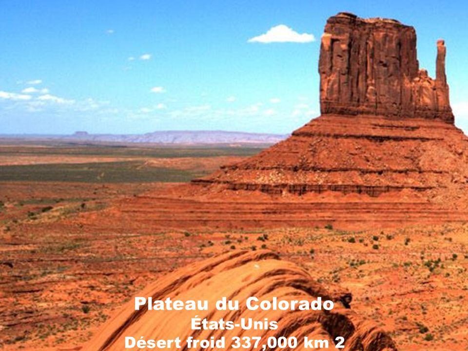 Plateau du Colorado États-Unis Désert froid 337,000 km 2